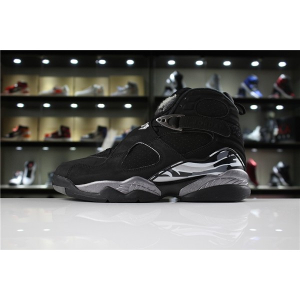 Men/Women Air Jordan 8 Retro Black Chrome 305381 001