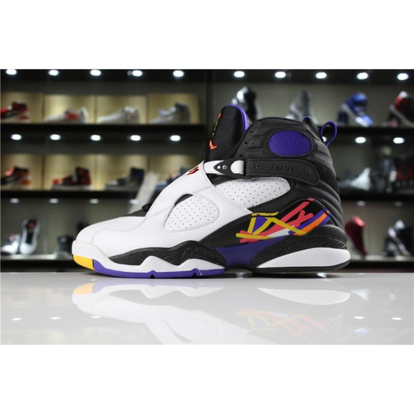Men/Women Air Jordan 8 Retro Three Peat White Infrared 23
