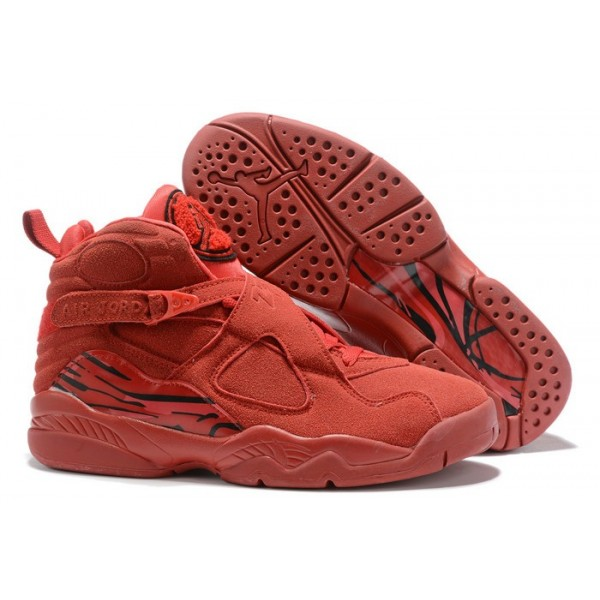 Men Air jordan 8 valentines day gym red ember glow