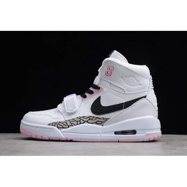Women Air Jordan Legacy 312 GS White Black-Pink Foam