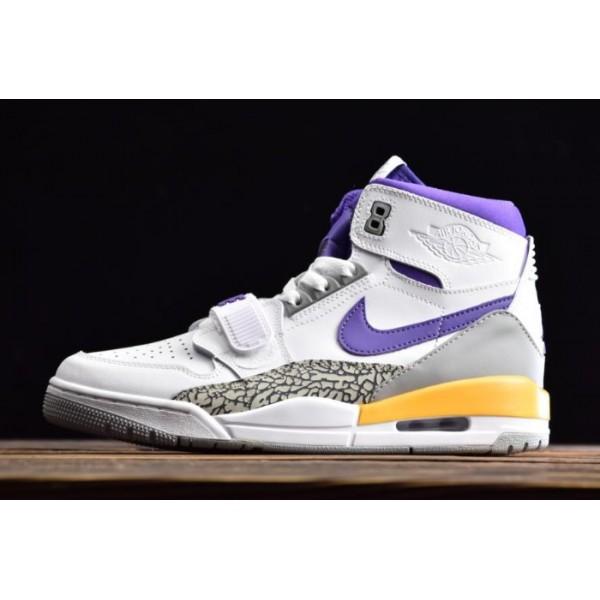 Men Air Jordan Legacy 312 Lakers White Purple