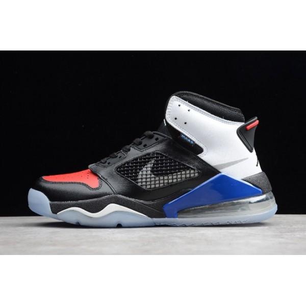 Men Jordan Mars 270 Top 3 Black White-Red Blue