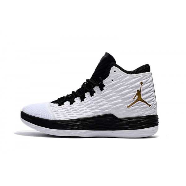 Men Carmelo Anthonys Jordan Melo M13 BHM White Metallic Gold