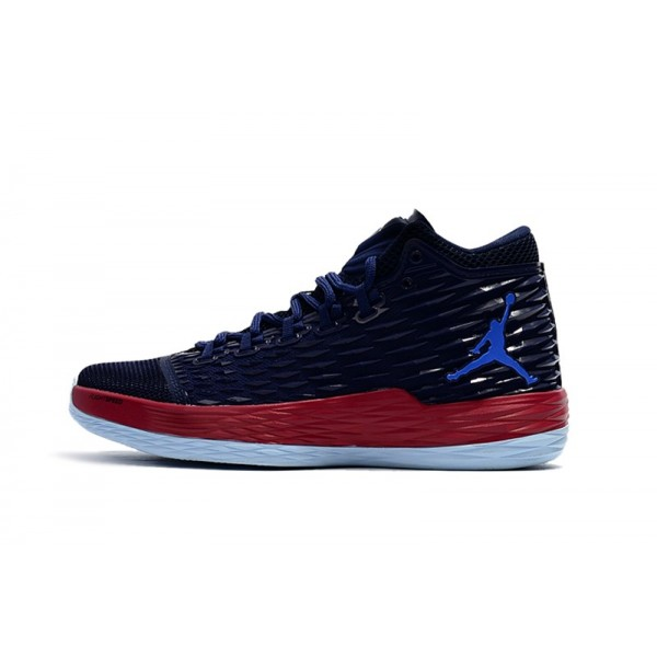Men Jordan Melo M13 Knicks Midnight Navy Gym Red-Blue