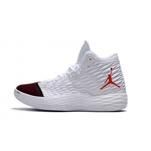 Men New Jordan Melo M13 White Black-Red