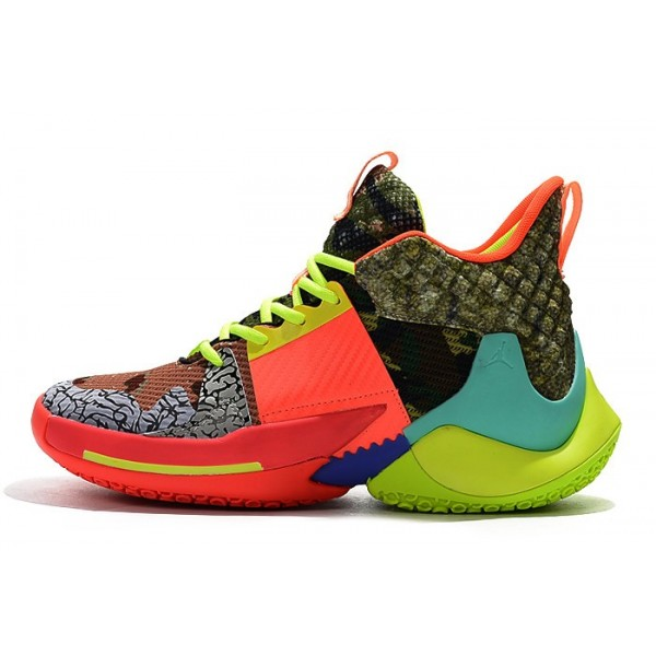 Men Jordan Why Not Zer0.2 All-Star Camo Green Red