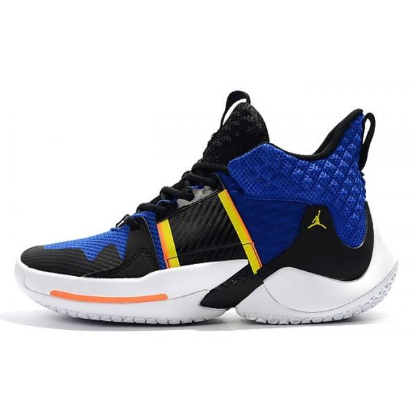 Men Jordan Why Not Zer0.2 Black Royal Blue-White-Yellow