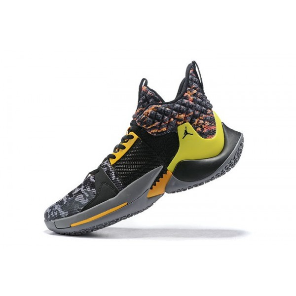 Men Jordan Why Not Zer0.2 Wolf Grey Orange-Yellow