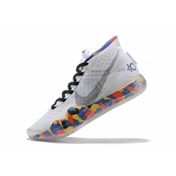 Men Nike KD 12 White-Multi-Color