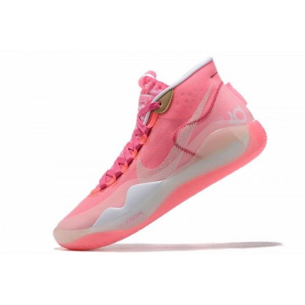 Men Nike KD 12 Pink White