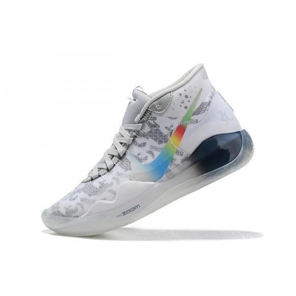 Men New Nike KD 12 Grey Multi-Color