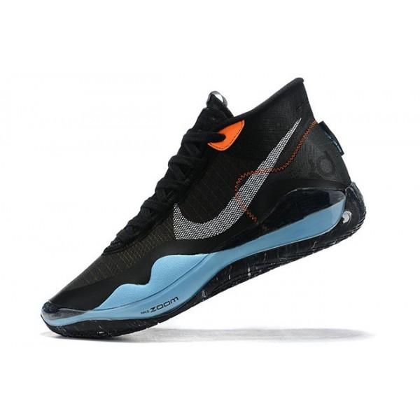 Men Nike KD 12 Black Blue Orange