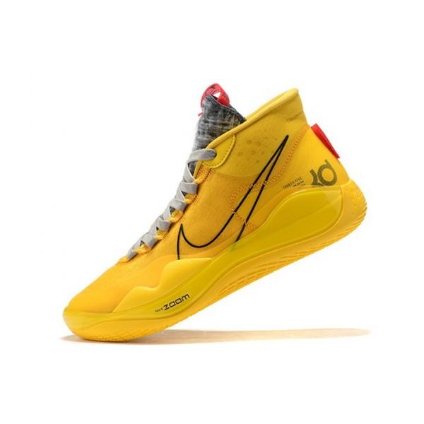 Men Nike KD 12 Bruce Lee Yellow Black