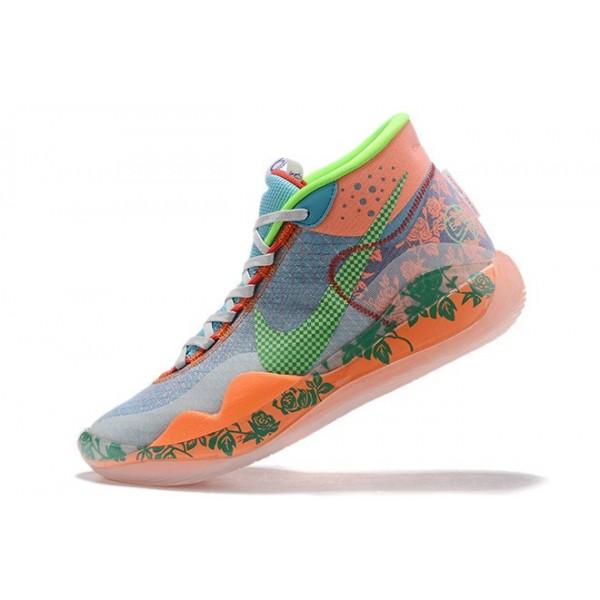 Men Nike KD 12 EYBL Multi-Color-Barely Volt