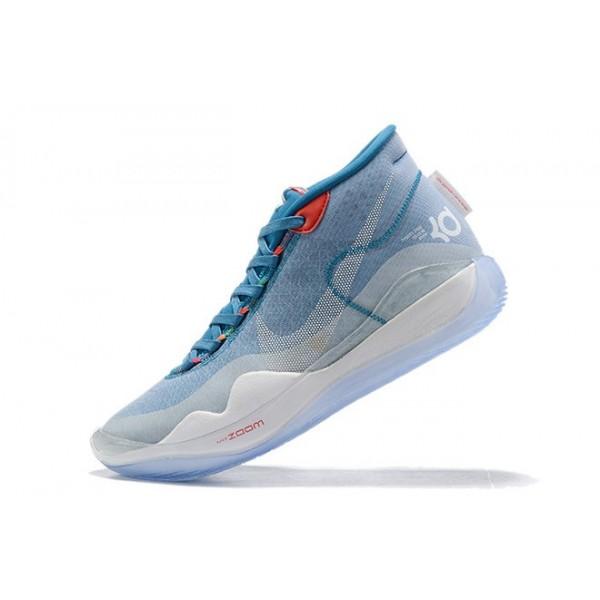 Men Nike KD 12 Lake Blue-Red-White