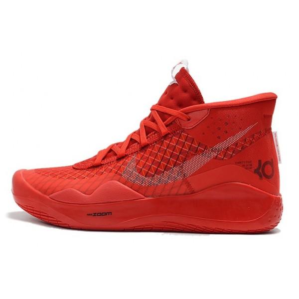 Men Nike KD 12 University Red White-Black