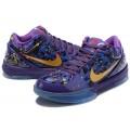 Men Nike Kobe 4 Purple-Metallic Gold