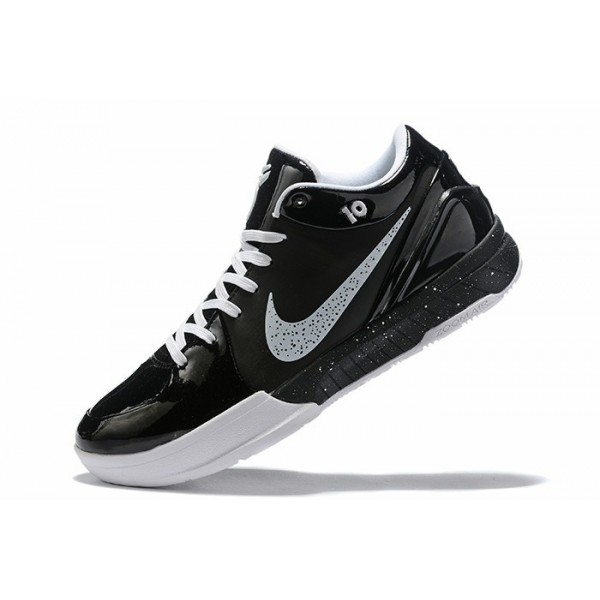 Men Nike Air Zoom Kobe 4 Black White Shoes