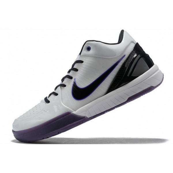 Men Nike Kobe 4 White Purple-Black