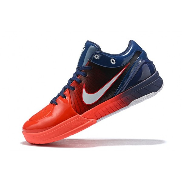 Men Undefeated x Nike Kobe 4 Protro USA Navy Blue Red-White