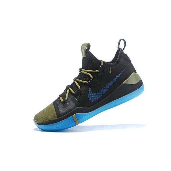 Men 2018 Release Nike Kobe AD Black-Metallic Gold-Blue
