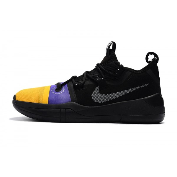Men 2018 Release Nike Kobe AD Black-Yellow-Purple
