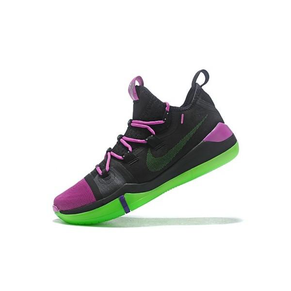 Men 2018 Nike Kobe AD Black-Purple-Green