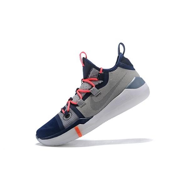 Men 2018 Nike Kobe AD Grey-Navy Blue-White-Crimson