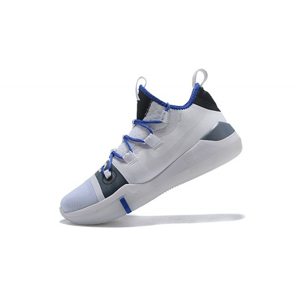 Men 2018 Nike Kobe AD White-Blue-Grey-Black