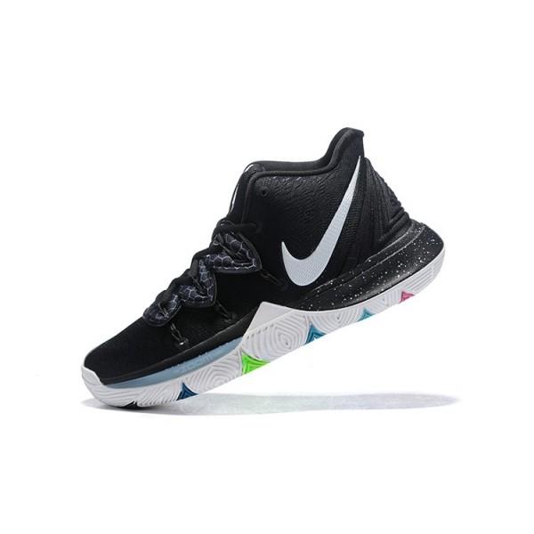 Men 2018 Nike Kyrie 5 Black Magic Multi-Color