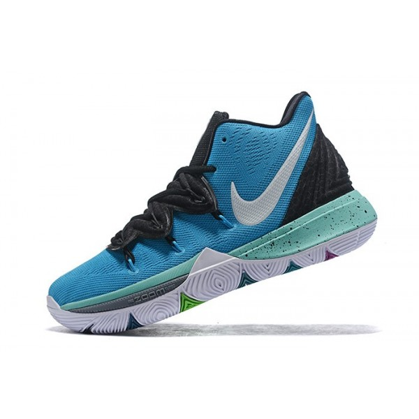 Men 2019 Nike Kyrie 5 Custom Blue-Black-White