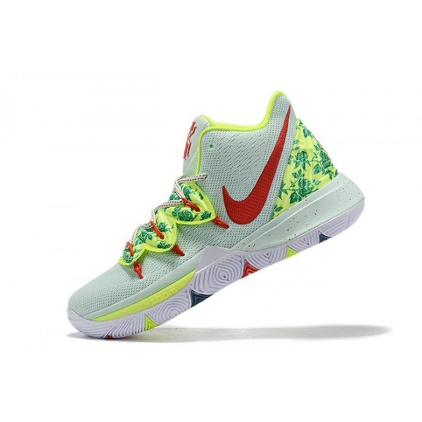 Men Nike Kyrie 5 EYBL Mint Green-Red-Neon Green
