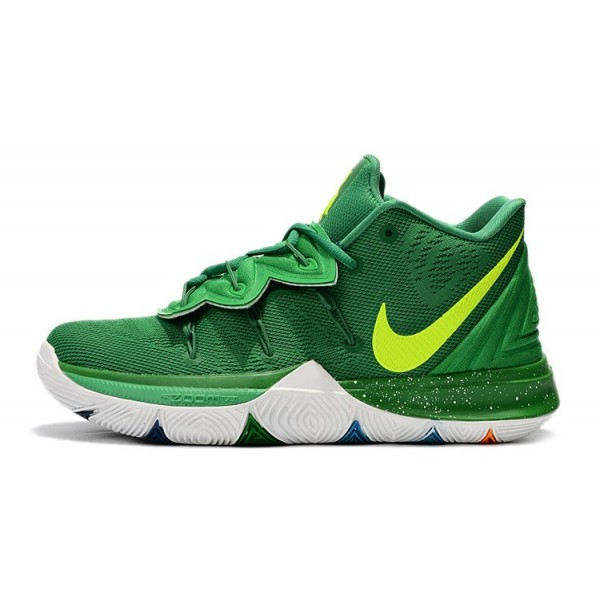 Men Nike Kyrie 5 Green-Volt-White