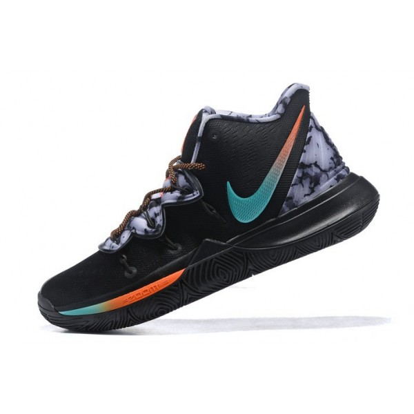 Men Christmas Gift Nike Kyrie 5 Black-Blue-Orange-Grey