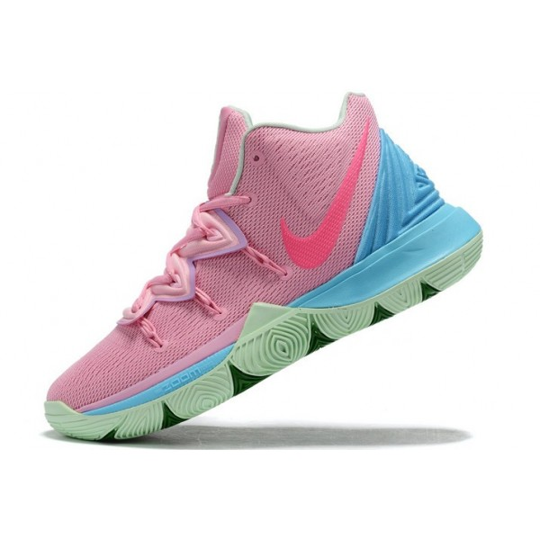 Men Nike Kyrie 5 Pink-Blue-Green Shoes