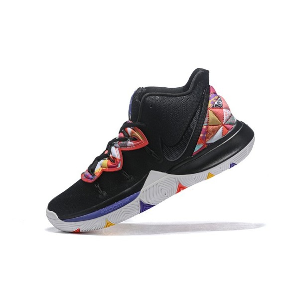 Men Kyrie Irving Nike Kyrie 5 Black-Multi-Color