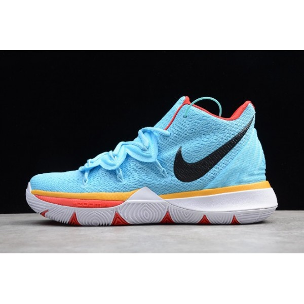 Men Nike Kyrie 5 EP Sky Blue Orange Red