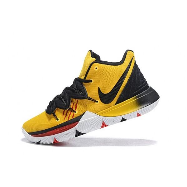 Men Nike Kyrie 5 Bruce Lee Mambatality Tour Yellow-Black