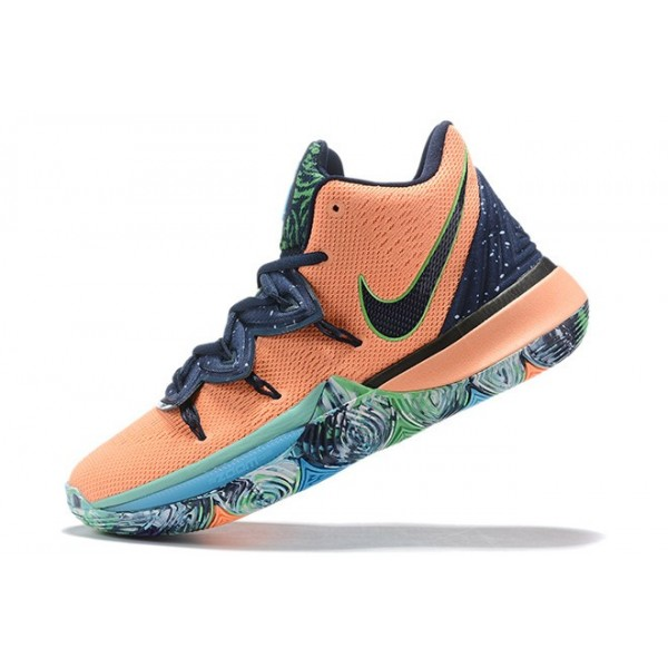 Men Nike Kyrie 5 Extraterrestrial Being Blue Orange