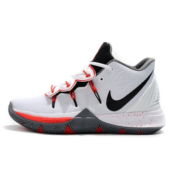 Men Nike Kyrie 5 PE Basketball Shoes White-Black-Red-Grey