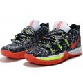 Men Nike Kyrie 5 Playoffs Black-White-Volt-Red Shoes