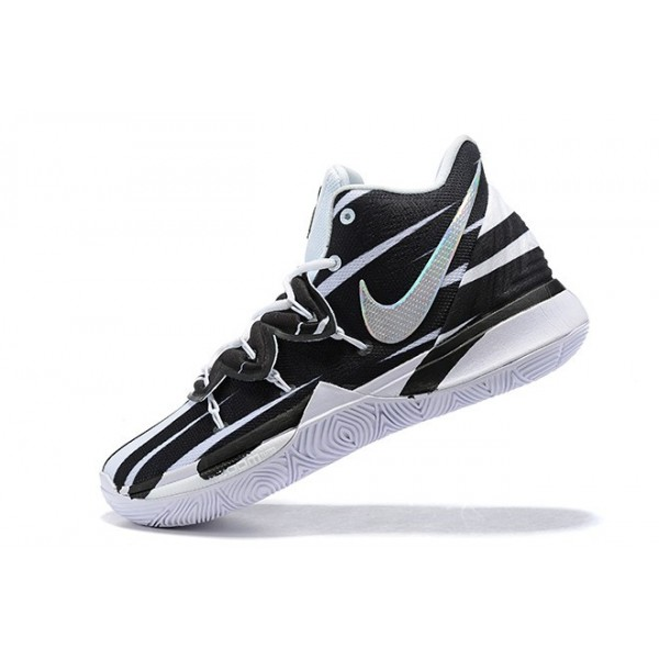 Men Nike Kyrie 5 Zebra Black-White