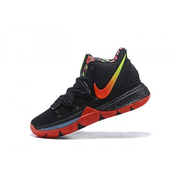Men New Nike Kyrie 5 Black-Red-Volt-Pink