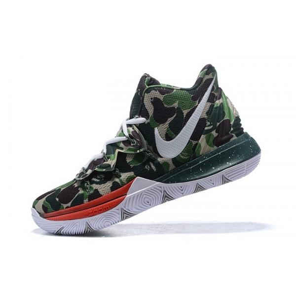 Men New Nike Kyrie 5 Camo Shoes