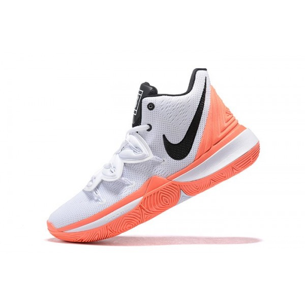 Men New Nike Kyrie 5 Hot Lava White Orange