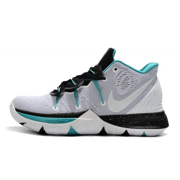 Men Nike Kyrie 5 White-Black-Blue
