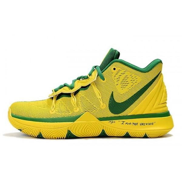 Men Nike Kyrie 5 Brazil Yellow-Pine Green