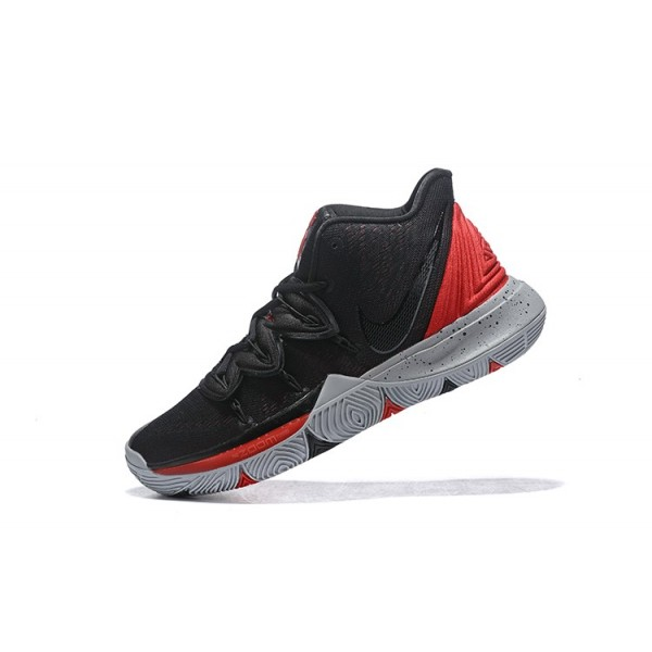 Men Nike Kyrie 5 Custom Black-University Red-Grey