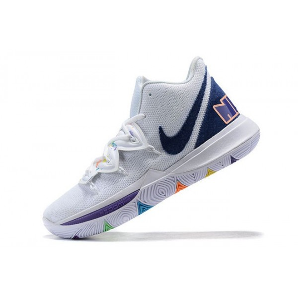 Men Nike Kyrie 5 Have A Nike Day White Blue