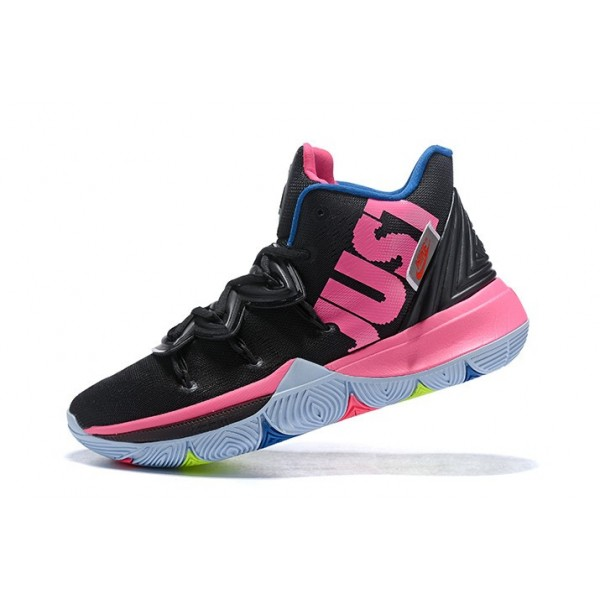 Men Nike Kyrie 5 Just Do It Black-Pink-Blue